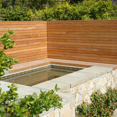 Inspiration for a contemporary retaining wall landscape in San Francisco.