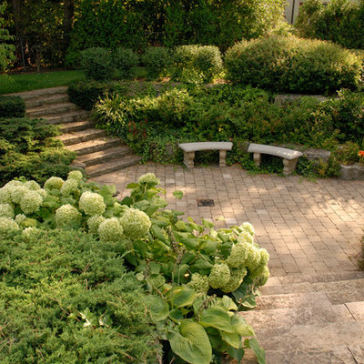 Inspiration for a traditional backyard landscaping in Toronto.