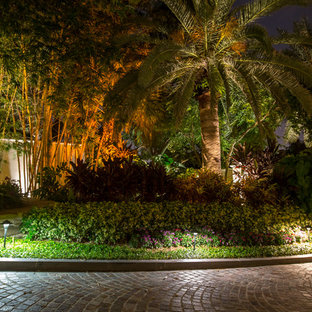 Ocean front landscape lighting, FL estate