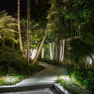 Ocean front landscape lighting, FL estate