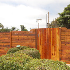contemporary landscape by BB Custom Redwood