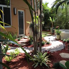Contemporary Landscape by Bamboo Landscaping and Services Inc