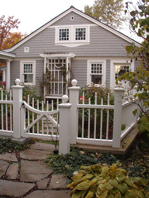 Cottage Fence Home Design Ideas, Pictures, Remodel and Decor