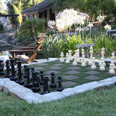 Contemporary Landscape Outdoor chess set