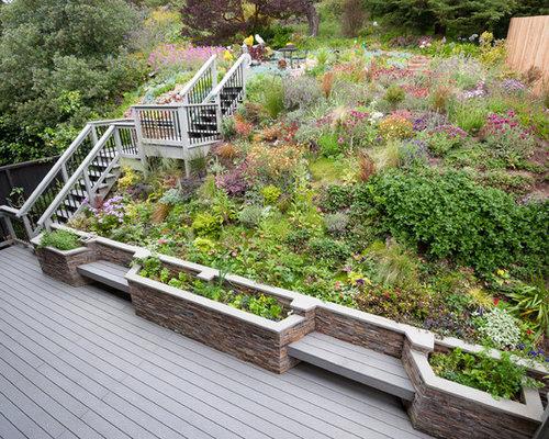 Best Deck Slope Hill Level Design Ideas & Remodel Pictures ...
