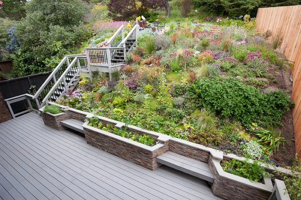 11 Design Solutions for Sloping Backyards on Sloped Backyard Landscaping Ideas id=58219