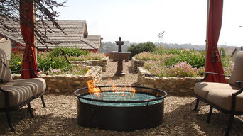 Outdoor Fire Pits using FireCrystals fire glass