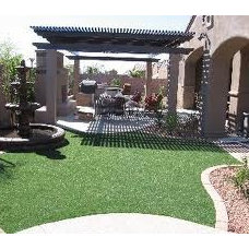 Traditional Landscape Outdoor Landscaping and Fire Pit