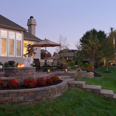 Traditional Landscape Outdoor Living