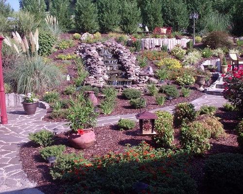 Foto e Idee per Giardini - giardino shabby-chic style con fontane