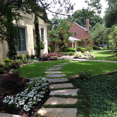 Traditional Landscape by Knight Design and Consulting