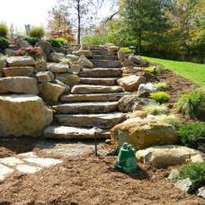 Rustic Landscape by Knob Hill Landscape Co.