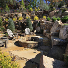 traditional landscape by Alex Custom Homes, LLC