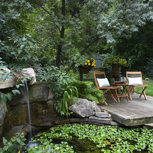 Design ideas for a traditional backyard pond in Toronto.