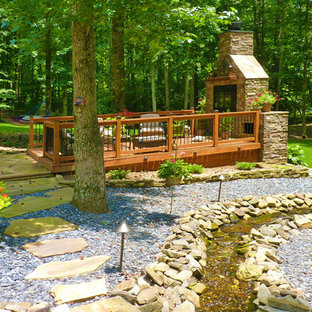 Inspiration for a transitional landscaping in Atlanta with decking.
