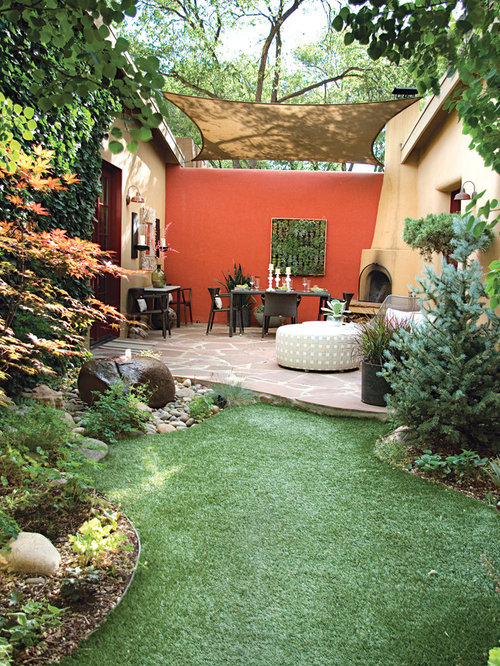Design Ideas For A Mediterranean Garden In Albuquerque With A Vertical  Garden.