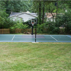 Traditional Landscape by Sport Court St. Louis