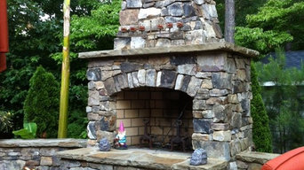 Outdoor Stone Fireplace Kit