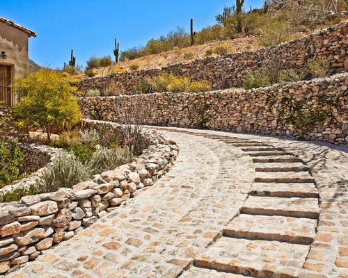 Outdoor gestaltung mit gartenmauer mediterran ideen f r mediterrane gartengestaltung houzz - Mediterrane gartenmauer ...
