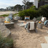 New Sand, Seating and Fire Pit Make for Prime Beach Lounging