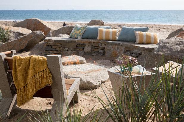 Beach Style Landscape by Margie Grace - Grace Design Associates