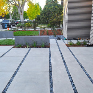 This is an example of a modern front yard driveway in San Francisco.