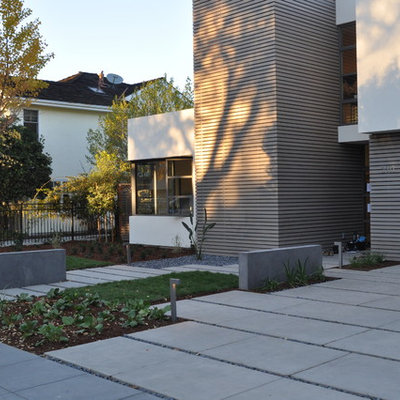 Inspiration for a modern front yard driveway in San Francisco.
