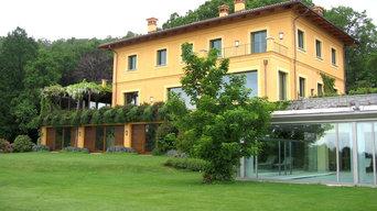 Parco privato a Biella con piscina coperta/scoperta