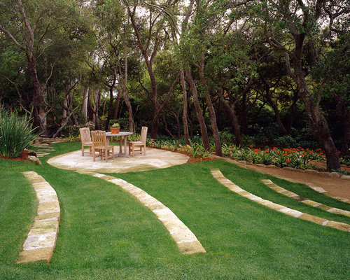 This Is An Example Of A Traditional Shade Stone Landscaping In Santa  Barbara.