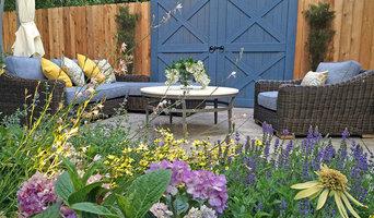 Park Slope, Brooklyn Garden Design, Water Fountain, Travertine Paver, Wood fence