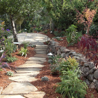 This is an example of a mediterranean stone landscaping in San Francisco.