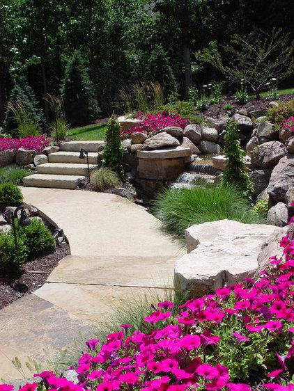 Contemporary Landscape by Ted Lare Design Build & Garden Center