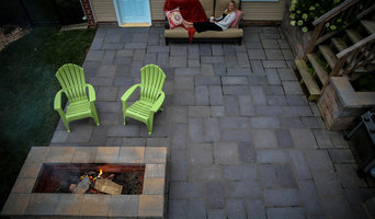 Patio and Fire Pit From Above