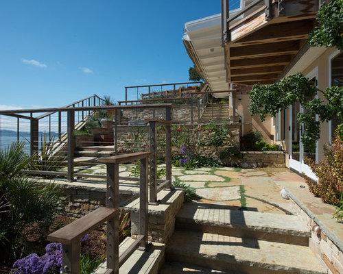 jardin bord de mer avec une pente une colline ou un talus photos et id es d co de jardins. Black Bedroom Furniture Sets. Home Design Ideas
