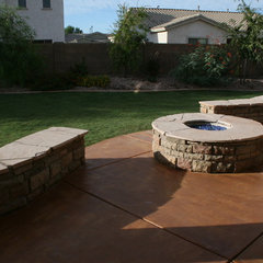mediterranean landscape by Martin Construction and Remodeling