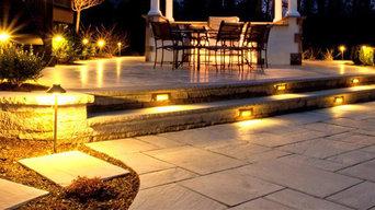 Paved Steps with lighting