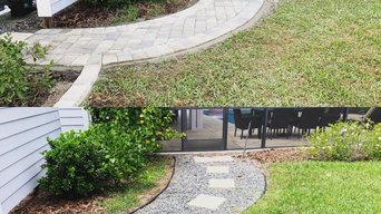 Paver Pathway Transformation