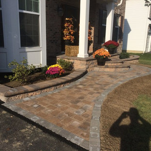 75 Beautiful Front Yard Brick Landscaping Pictures & Ideas ...