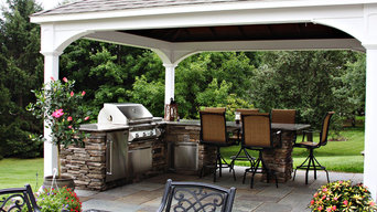 Pavilion with Outdoor Kitchen and Bluestone Patio
