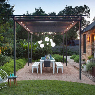 This is an example of an eclectic landscaping in Austin.