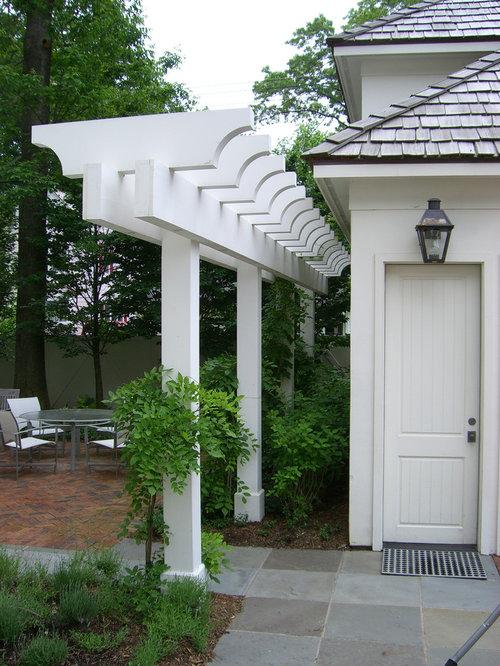 Pergola Narrow Design Ideas & Remodel Pictures | Houzz on Side Yard Pergola Ideas id=60255