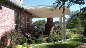 Pergolas, Fireplaces, Fountains, Sidewalks, and Plants