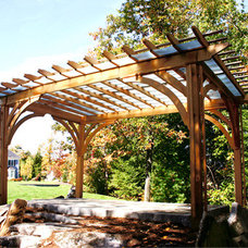 Traditional Landscape by Trellis Structures, Inc