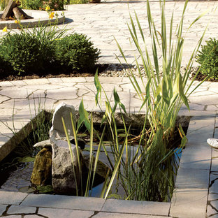 This is an example of a traditional landscaping in Montreal.