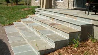 Peterborough, natural stone steps