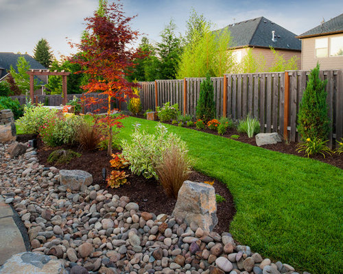 river rock landscape ideas, pictures, remodel and decor, river rock garden design ideas, river rock garden edging ideas, river rock garden ideas