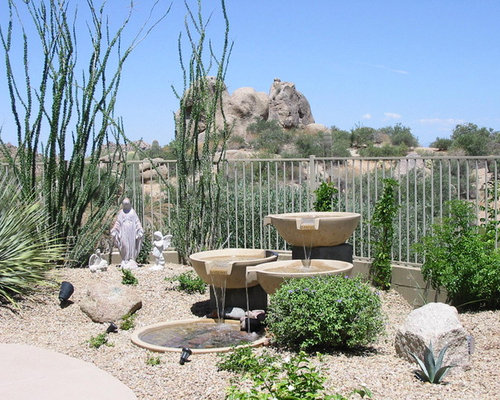 Inspiration For A Southwestern Water Fountain Landscape In Phoenix.