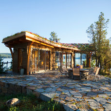 Rustic Landscape by Jon R. Sayler, Architect AIA PS
