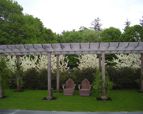This Is An Example Of A Traditional Backyard Landscaping In Boston
