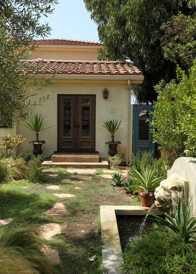 Mediterranean Landscape by Custom Design & Construction